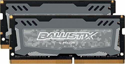 Crucial Ballistix Sport LT SO-DIMM DDR4 - 16GB (2×8GB), 2666MHz, CL16 oder 8GB für 27.20€ mit Prime (Amazon)