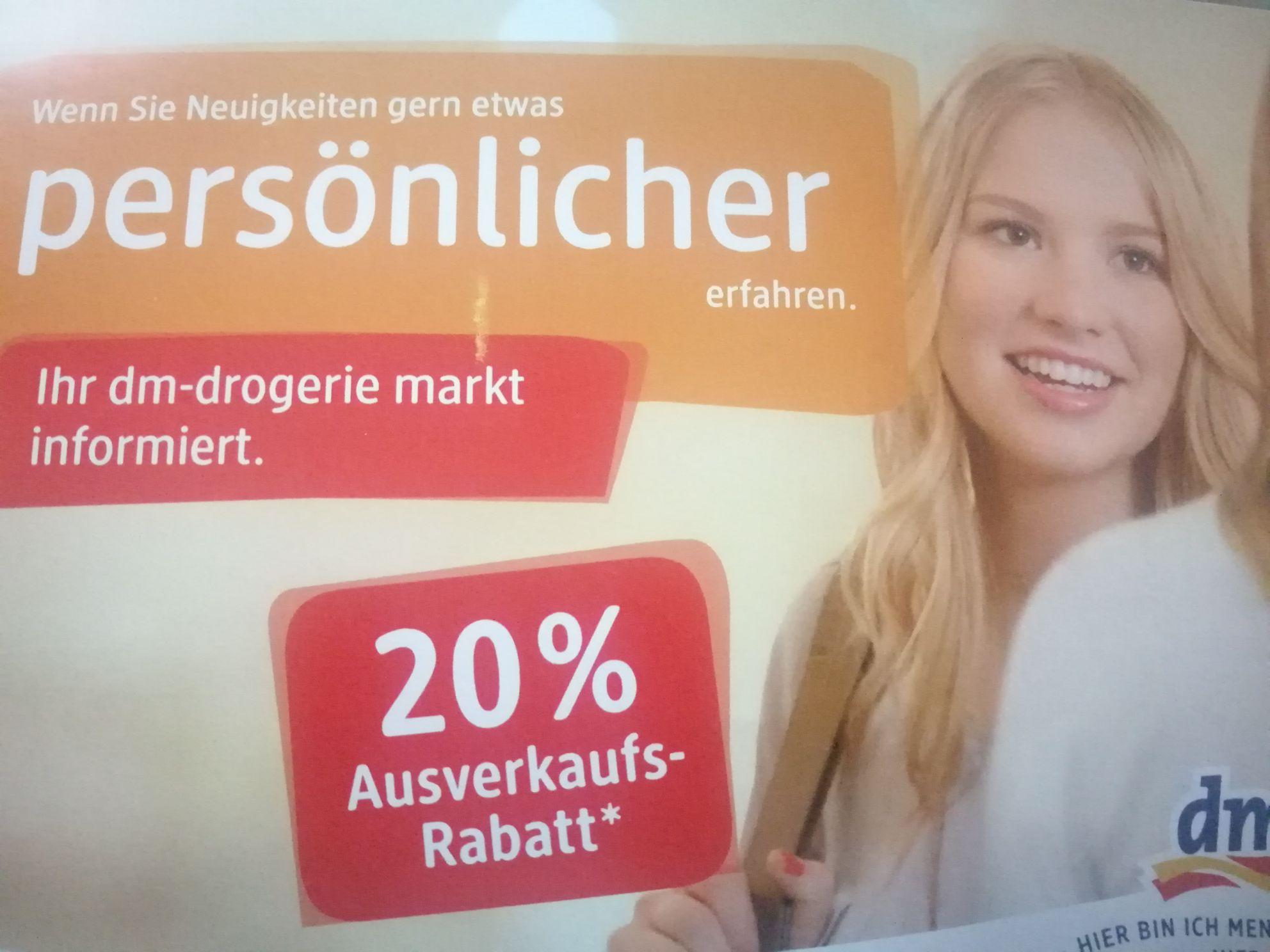 [Lokal Berlin] DM Müllerstraße 40 b (Wedding) ab 21.2. 20% Rabatt auf alle Produkte