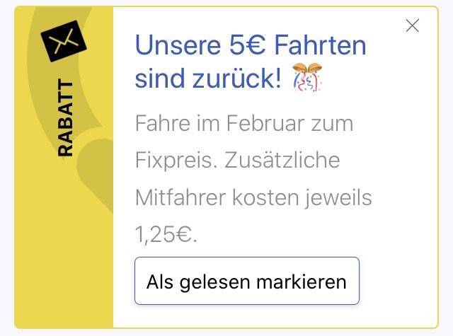 [Lokal Berlin] Jede BerlKönig Fahrt 5€ (+ 1,25€ weitere Personen)