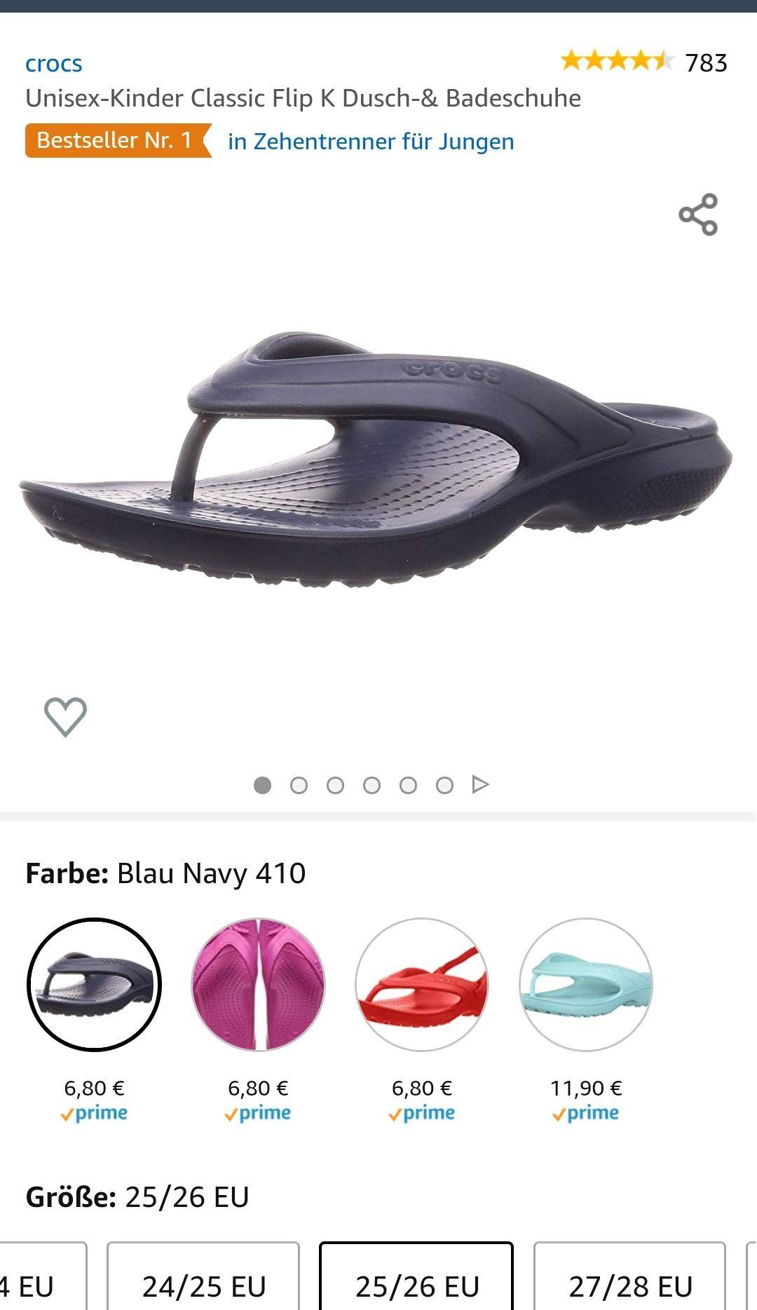 Crocs Unisex-Kinder Classic Flip K Dusch-& Badeschuhe