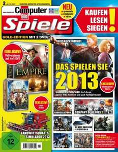 "CBS 02/2013: Vollversionen ""Empire - Total War"" + ""Tale of a Hero"" + Anno Online (Closed Beta) +++"
