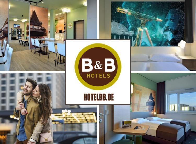 B&B Hotelgutschein 2/3 Übernachtungen inkl. Frühstück für 2 Personen