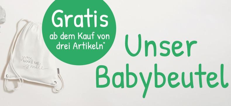 """[Ernstings Family] 1 Babybeutel gratis beim Kauf von 3 gekennzeichneten Artikeln aus der Kategorie """"Babybeutel-Aktion"""""""