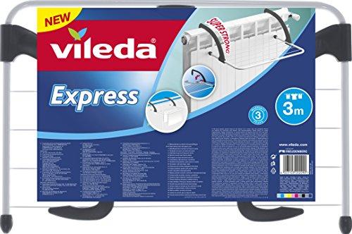 3 x VILEDA Express Heizkörpertrockner, Stahl und Kunststoff, neue Version mit SuperStrong Bügel (Amazon Prime)
