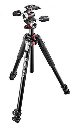 Manfrotto 055 professionelles Fotostativ bis 8 kg, MK055XPRO3-3W