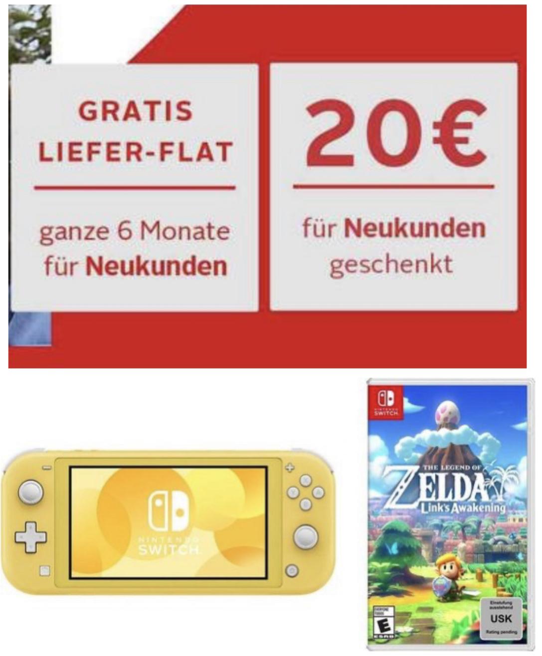 OTTO App Neukunde: Jetzt 20€ Rabatt + 5% auf alles - z.B. Animal Crossing New Horizons 36,99€ / Switch Lite + Zelda Link's Awakening 197,55€