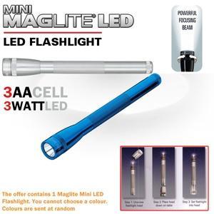 Mini Maglite Mag-Led 3AA LED Taschenlampe @iBood.de 20,90€