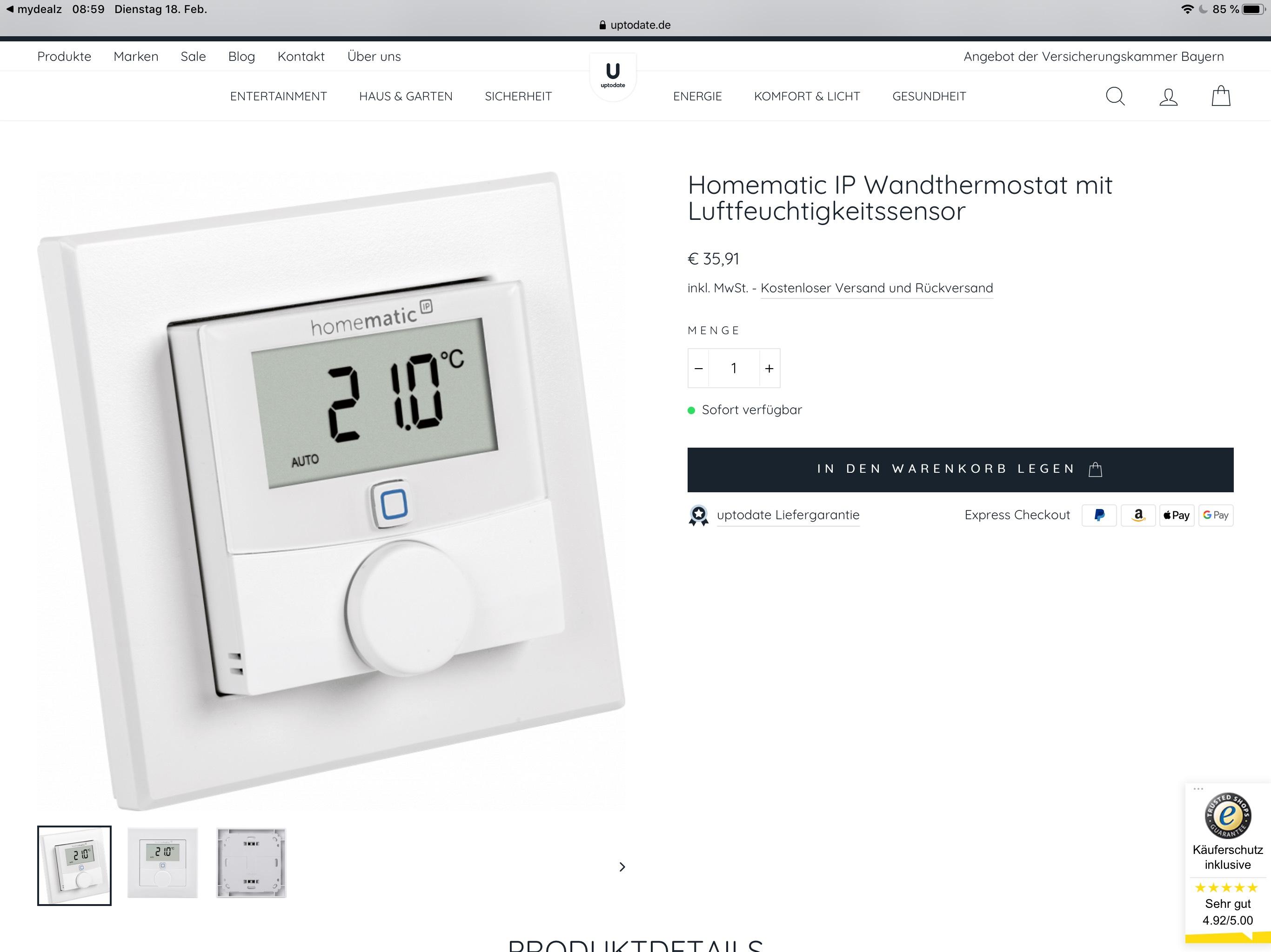 Homematic IP Wandthermostat WTH-2