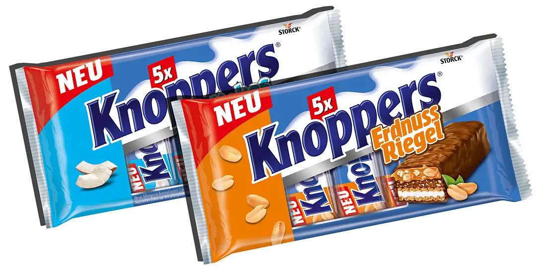 Knoppers NussRiegel Erdnuss oder Kokos 200g für 1,49 bei NETTO (mit Hund)