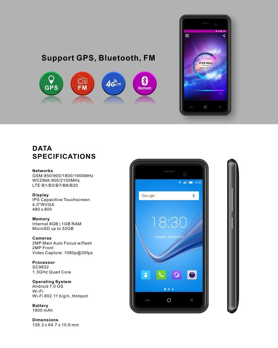 PLUZZ PL4010 LTE Smartphone inklusive Dualsim