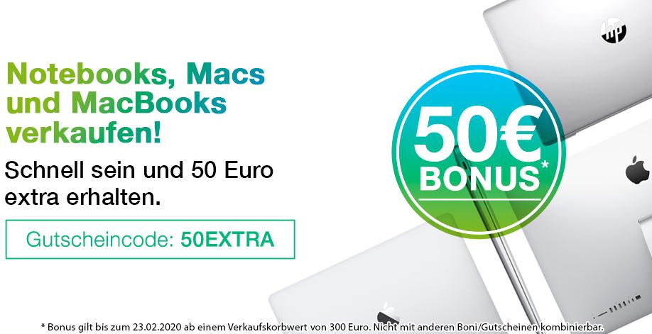 [FLIP4NEW] 50€ extra für Ankauf von Notebooks, Macbooks o. Macs ab 300€ MBW