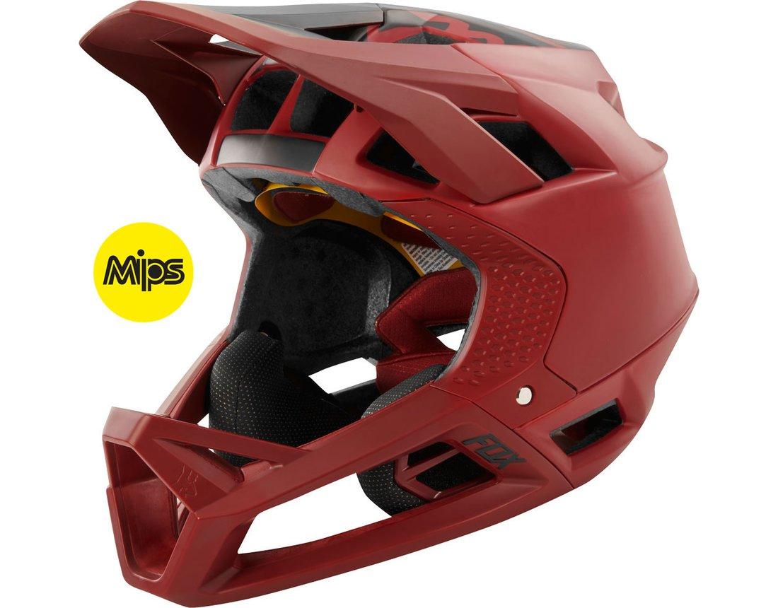 MTB Fox Proframe Fullface MIPS Helm (750gr) - Cardinal (Rot) L