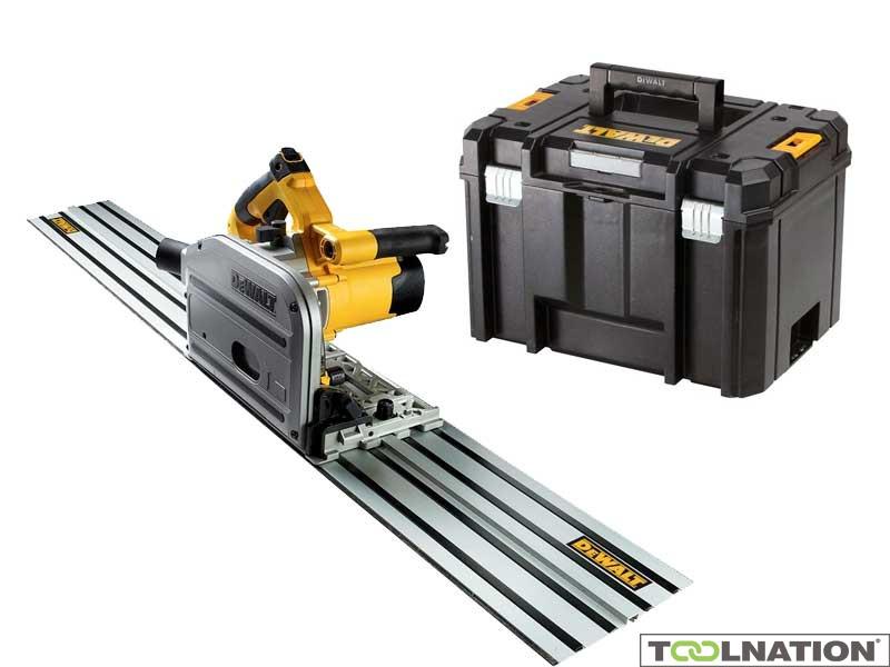 Dewalt DWS520KT Tauchkreissäge 1300 Watt + 150 cm Führungsschiene + Koffer