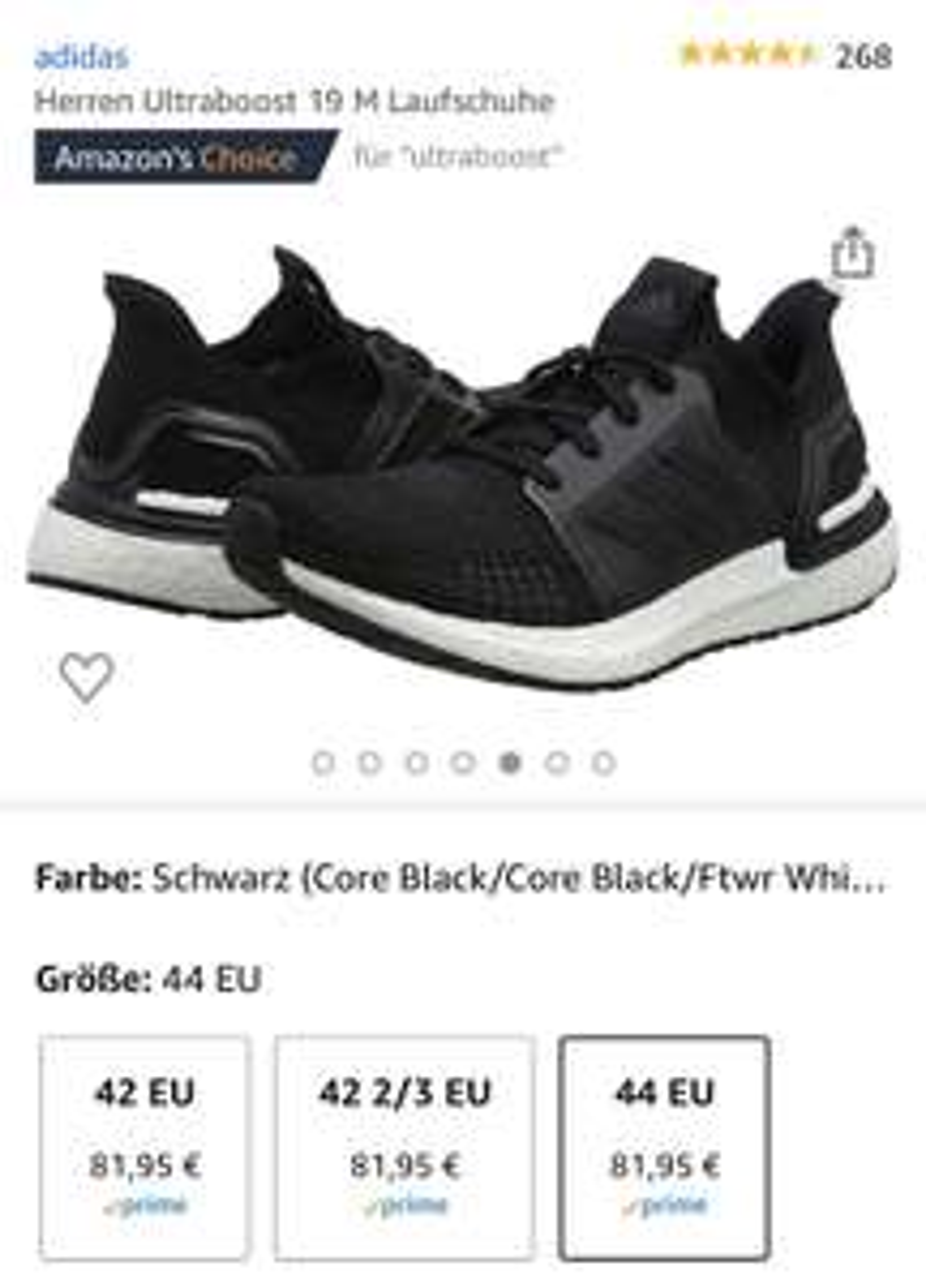 Adidas Ultraboost Herren - Schwarz 42, 42 1/3, 44
