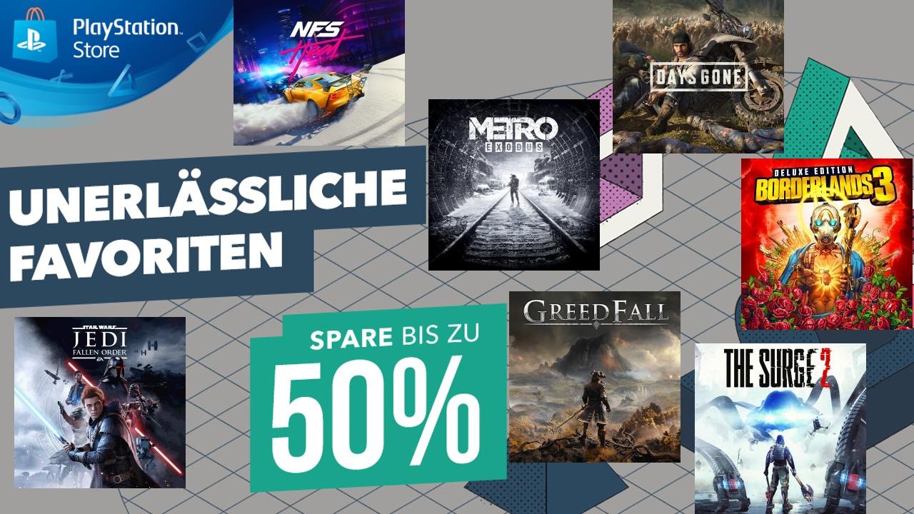 """PS4 """"Unerlässliche Favoriten"""" z.Bsp. Days Gone"""