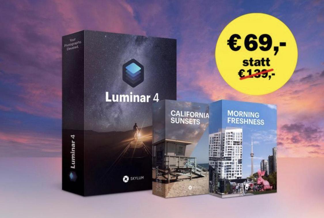 Skylum Luminar 4 + 2 Premium-Sky-Kollektionen   Lizenz für 2 Computer