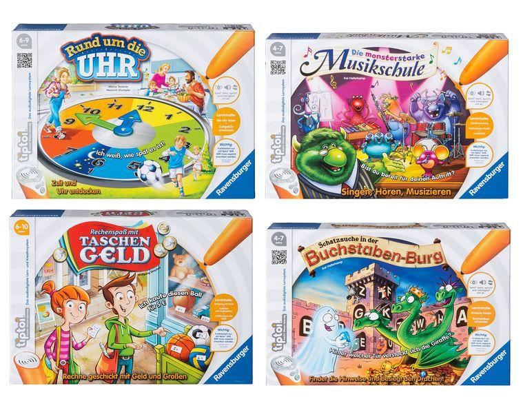 Diverse Ravensburger Tiptoi-Spiele und Tiptoi-Tierset bei Lidl Online