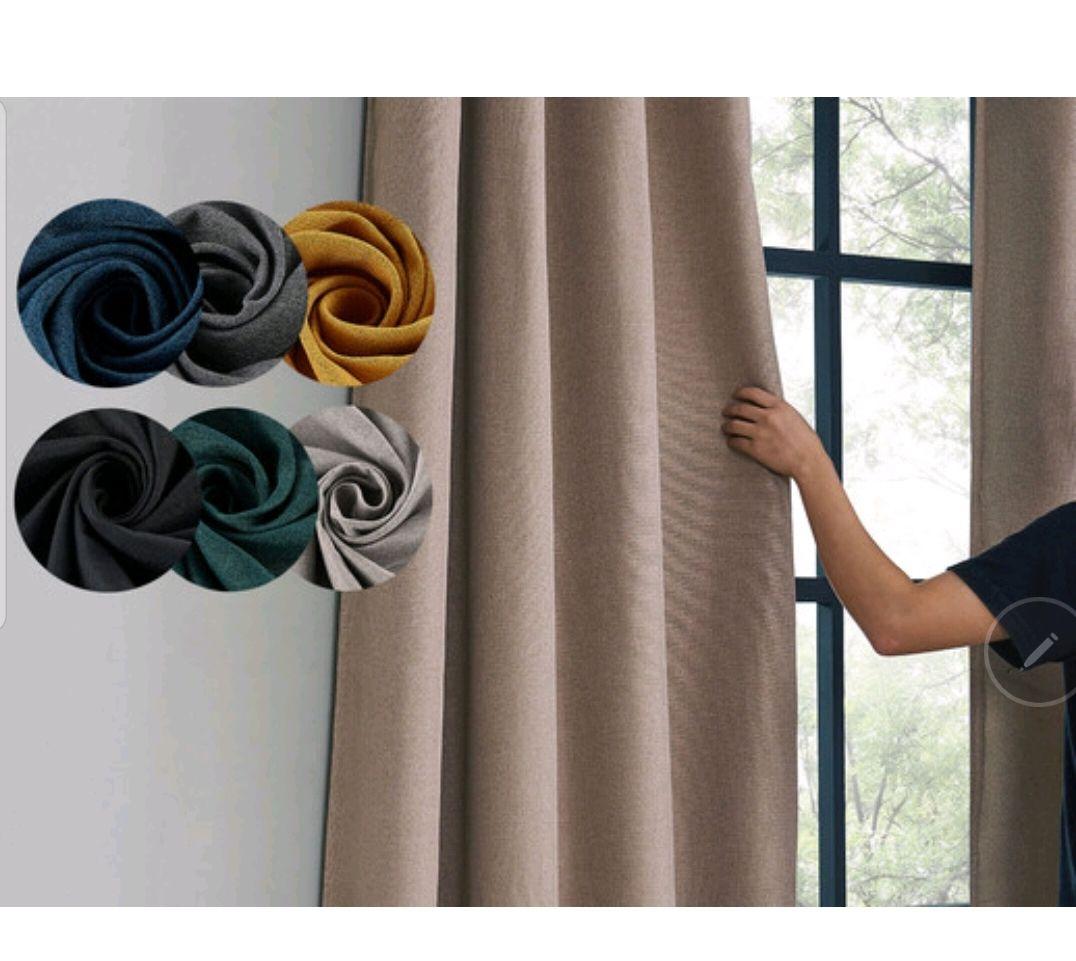 Larson Verdunkelungsvorhang 150 x 250 cm Vorhang Hotelqualität Blickdicht Luxus Blackout Gardinen für Schlafzimmer Wohnzimmer