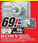 Media Markt Stuttgart: Sony DSC-W310, 12 MP, 4x opt. Zoom - 69€