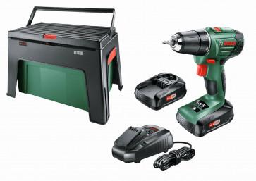 Bosch Akku-Bohrschrauber PSR 1800 LI-2 / 2 Akkus 1,5Ah / Ladegerät / Workbox