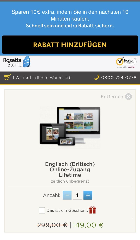 Rosetta Stone bis zu 50% Ermäßigung