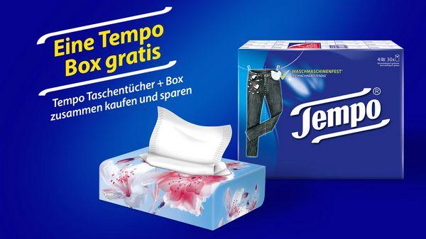 (Marktguru) Tempo Taschentücher und Tempo Box zusammen kaufen und 100% Cashback für die Tempo Box bekommen
