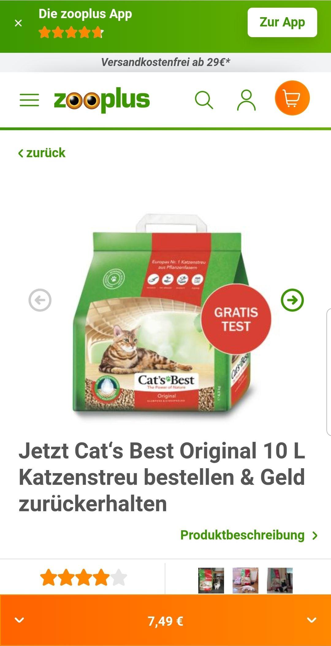 CAT's Best Gratis testen (Gzg) mit Zooplus