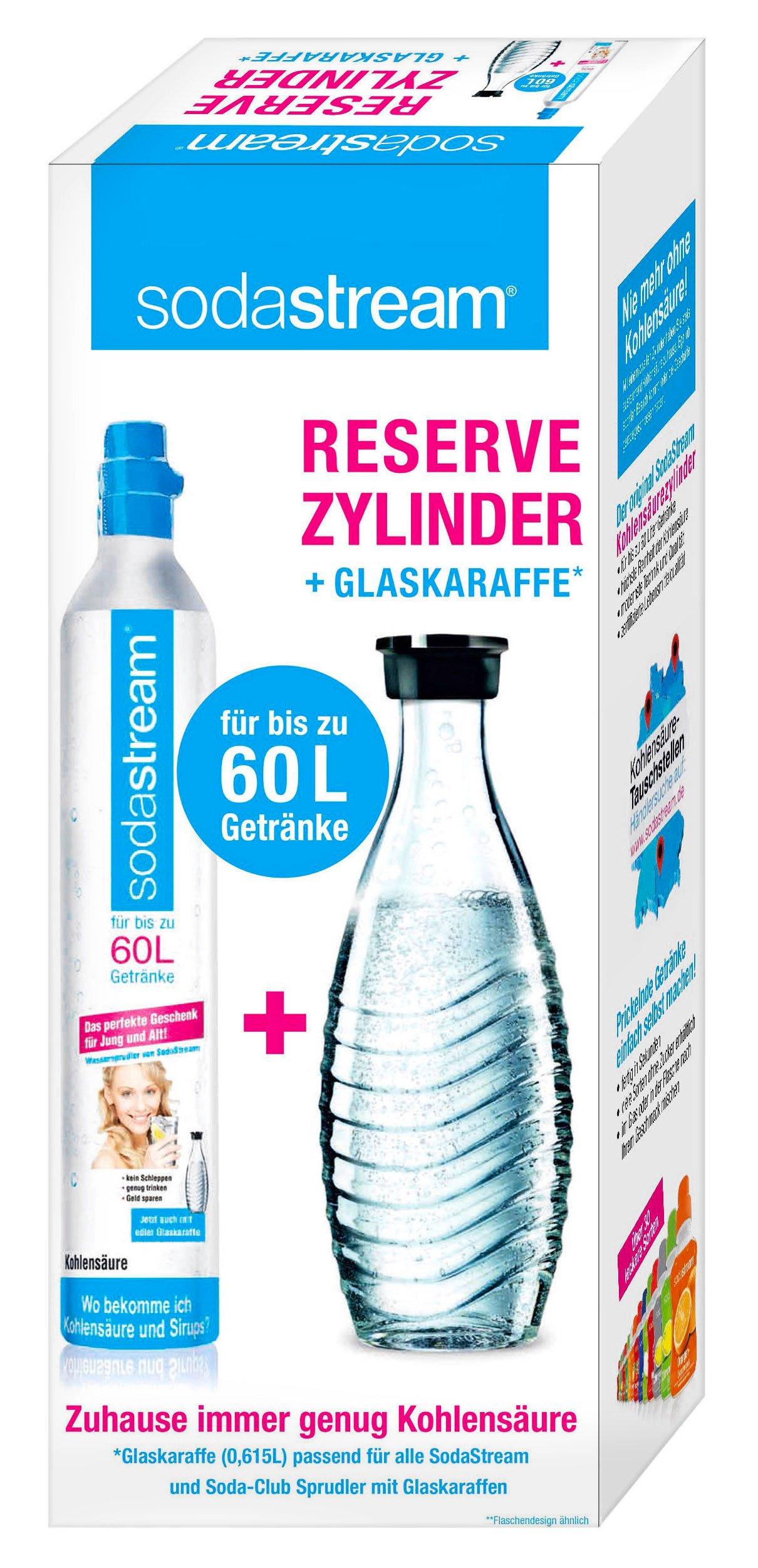 Sodastream Reserve-Set CO2-Zylinder 60 l mit Glaskaraffe