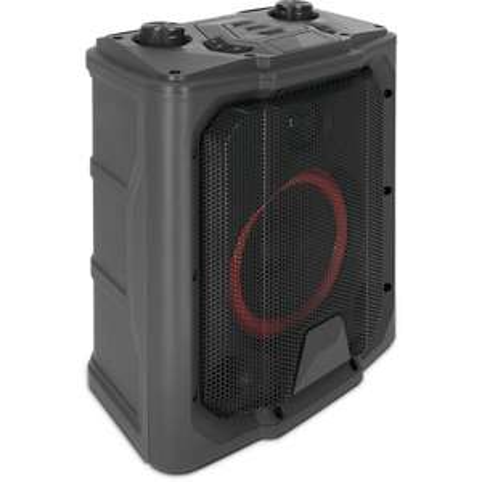 TechniSat Bluspeaker Boom (40W, Bluetooth 4.2, UKW, Gitarren- & Mikrofoneingang, Line-In, USB, 4000mAh-Akku für ~20h, LED-Beleuchtung)