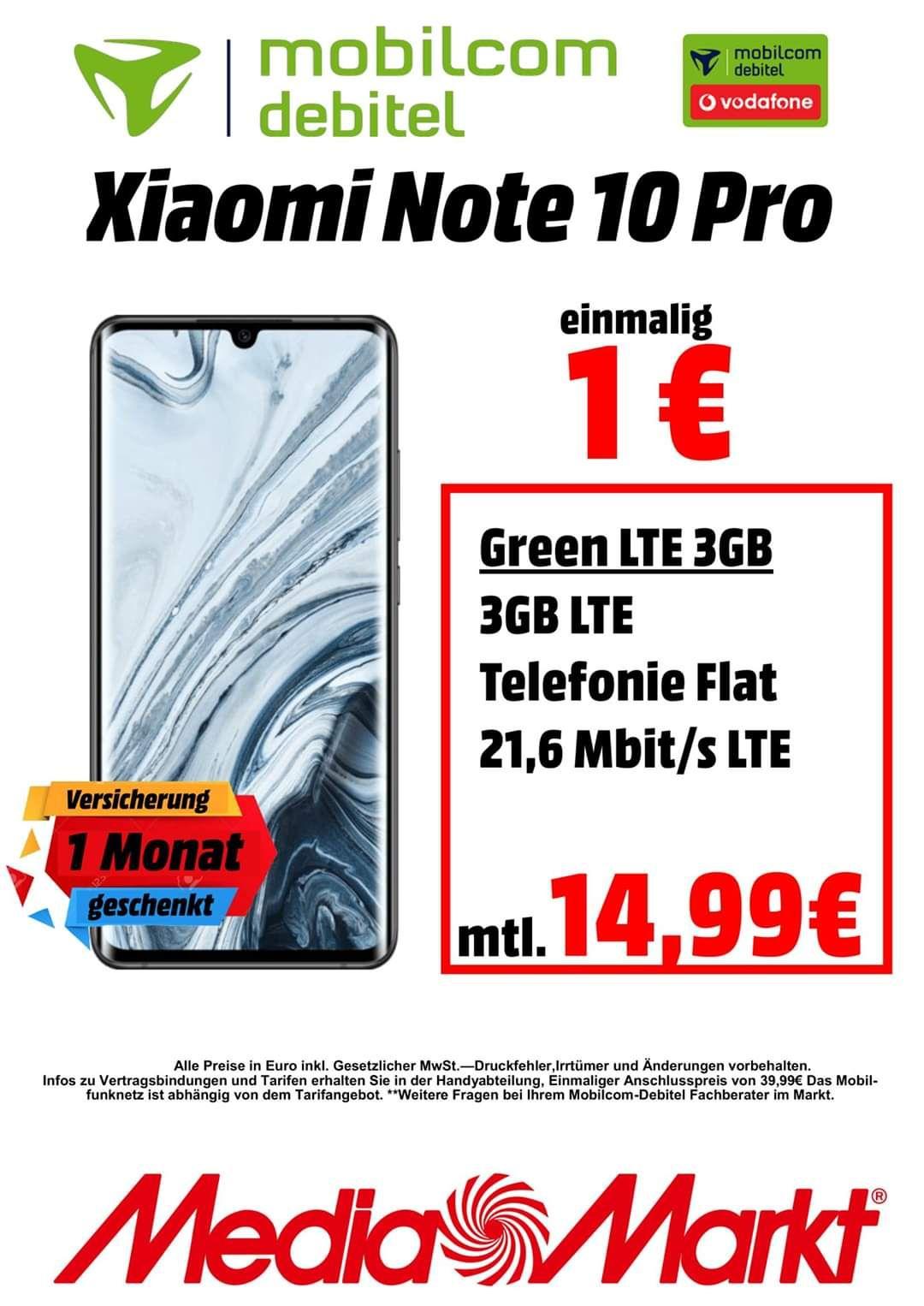 Xiaomi Mi Note 10 Pro *Lokal* Media Markt Nordhorn-Lingen-Meppen