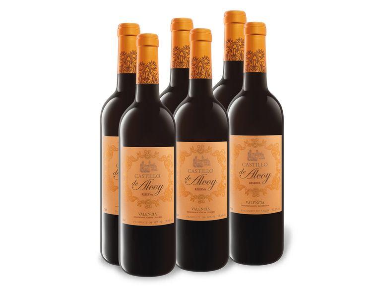 30 X 0,75-l-Flasche Castillo de Alcoy Valencia DO trocken, Rotwein
