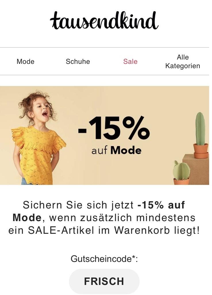 Tausendkind - 15% auf Mode