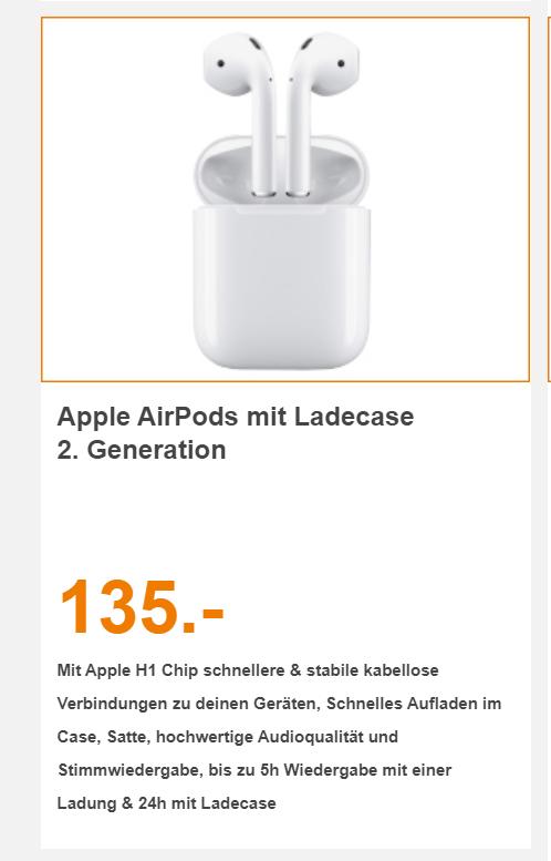 (Lokal Berlin) Apple Air Pods 2. Generation