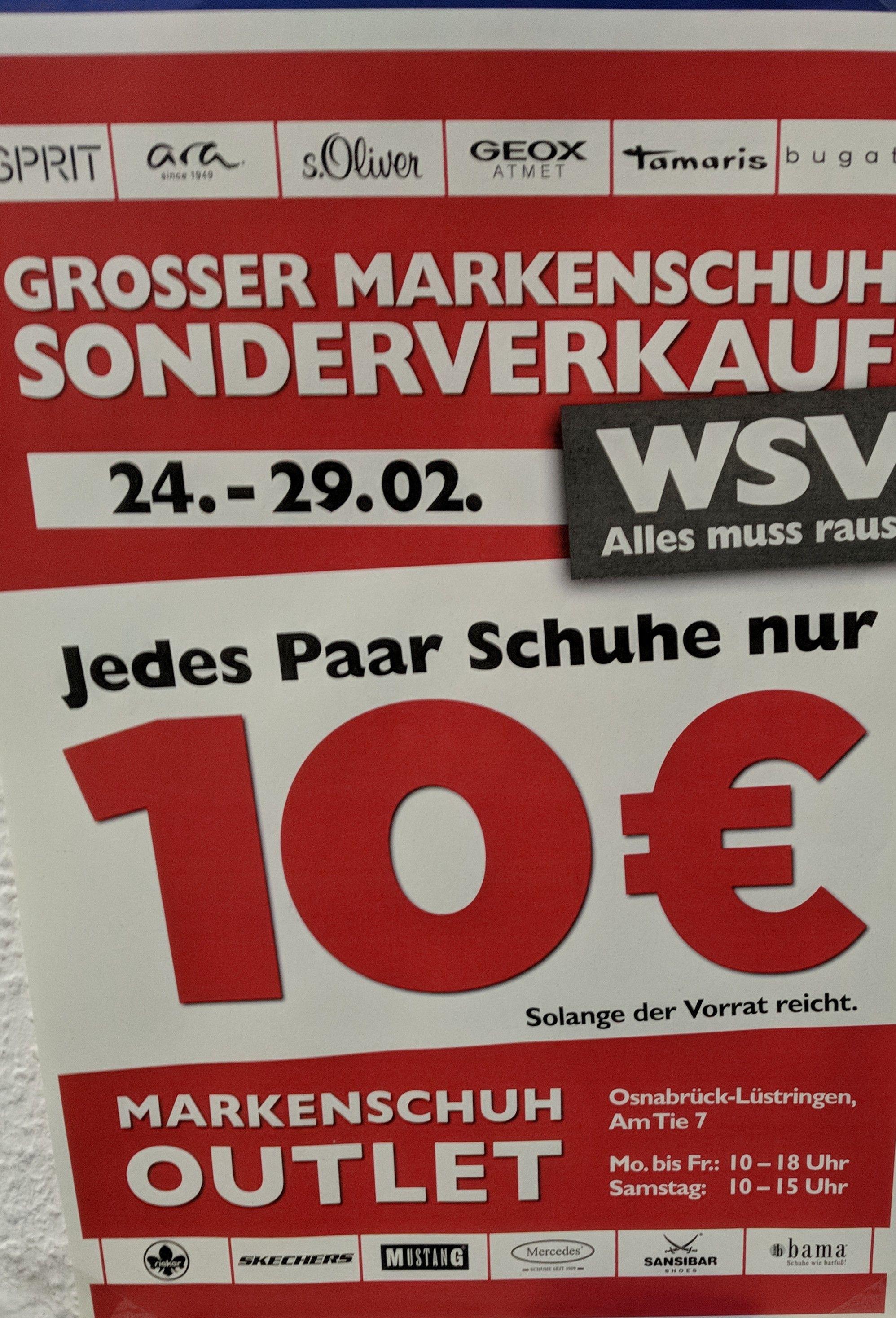 [lokal] Osnabrück jedes Paar Schuhe 10€
