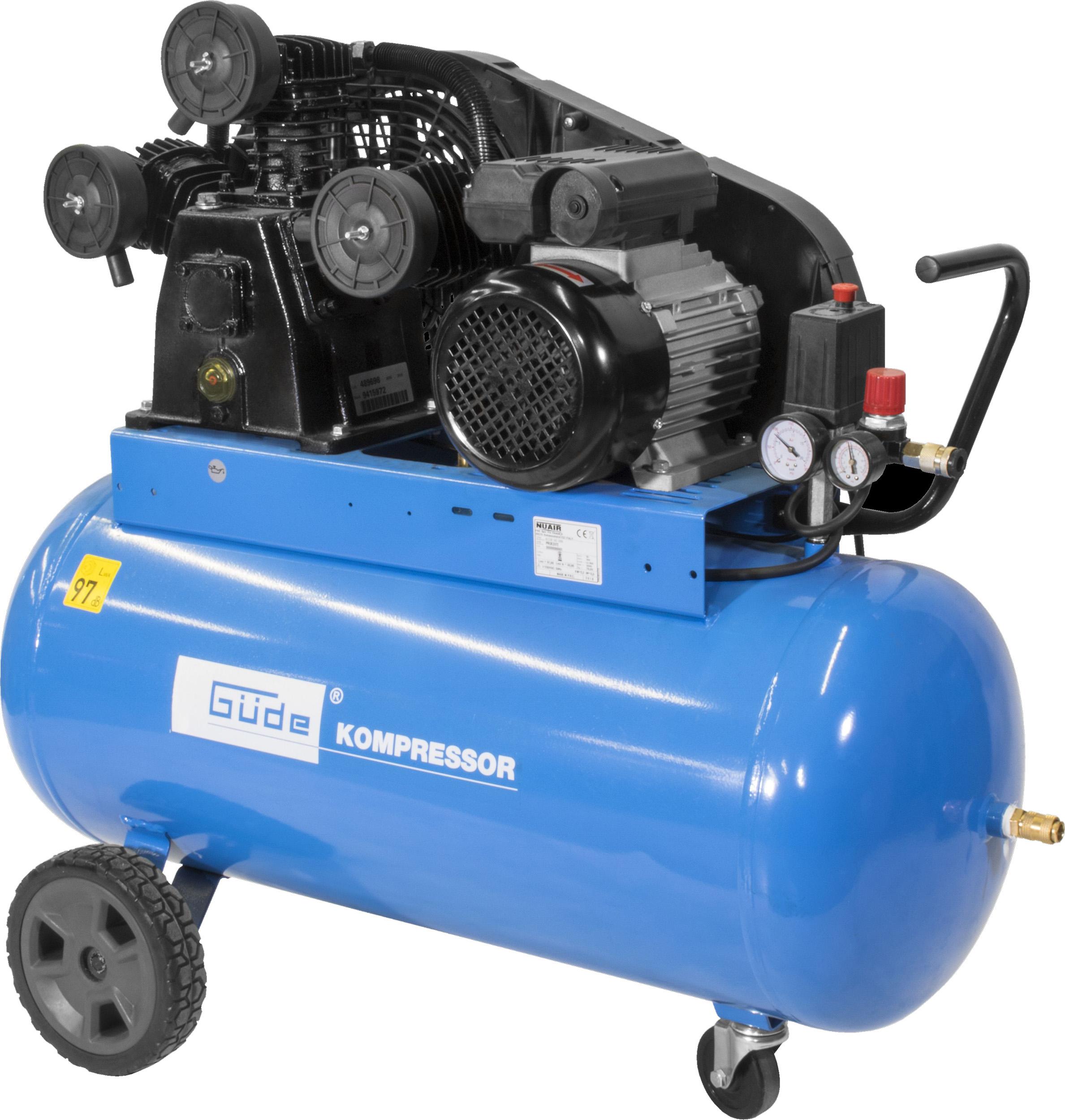 Güde Kompressor 550/10/100 10 bar, 100 l, 500 l/min, 2,2 kW, 3 Zylinder, 230 V für 429 Euro [Globus Baumarkt - Filiale]