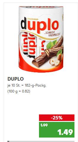 Kaufland ab dem 02.03 - Duplo 1,49 / Kinder Riegel 1,49 / Milch Schnitte 1,77 Euro