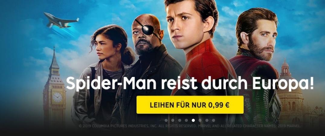 [RakutenTV] Spiderman: Far From Home in 4K UHD für 0,99 € zum Leihen // Für 99 Rakuten-Superpunkte gratis
