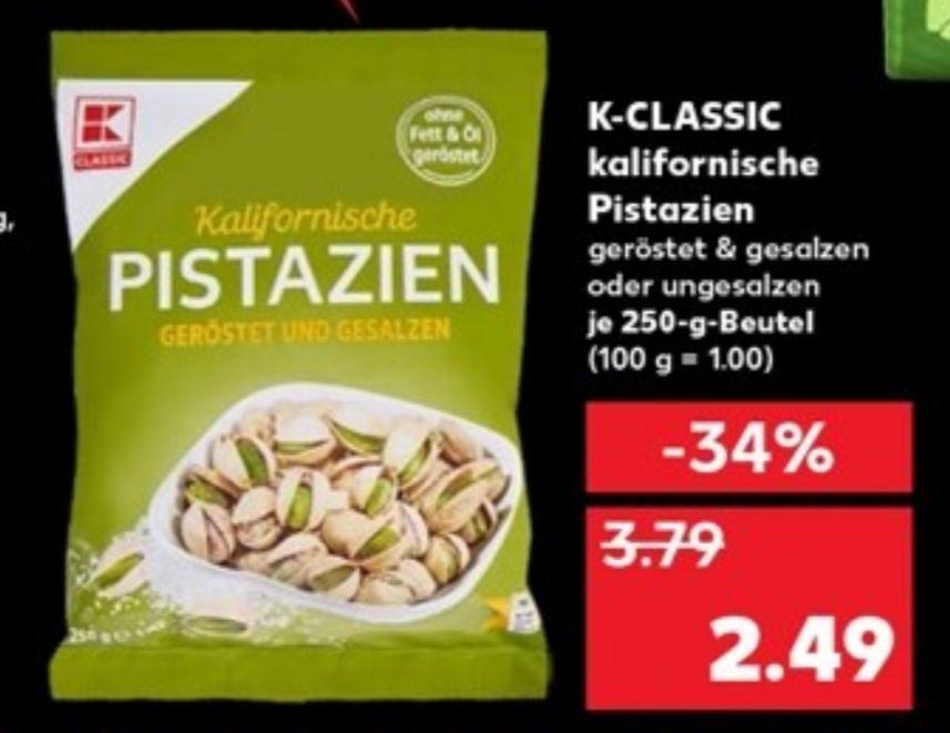 [Kaufland] Pistazien je 250g Beutel für 2,49€
