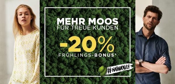 Eterna 20% auf alles, MBW 75€