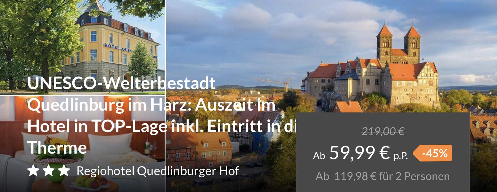 3*** Hotel im Harz mit Thermeneintritt für nur 59,99 Euro p.P