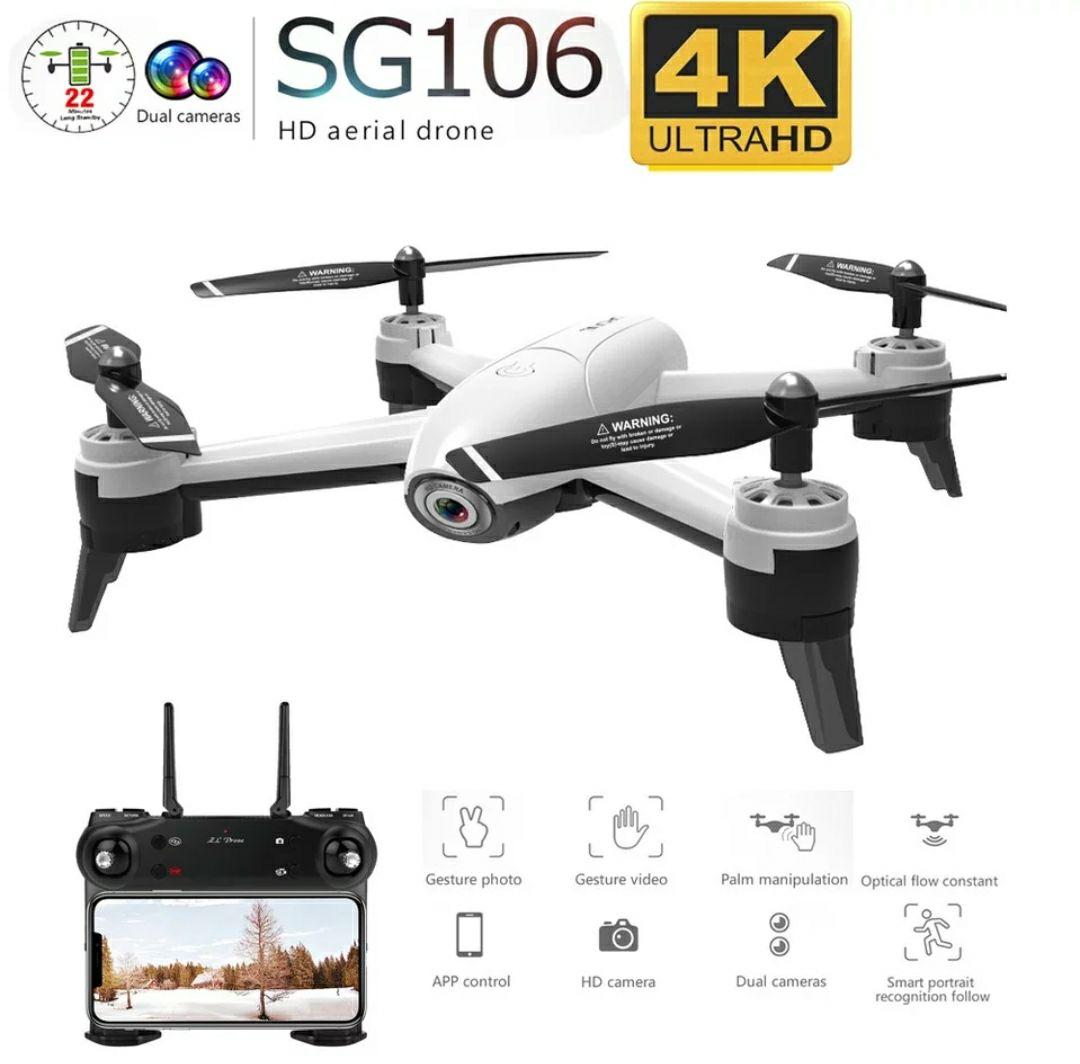 4K Drohne SG106 inkl. 3 Batterien WiFi Fernbedienung mit Handyhalterung