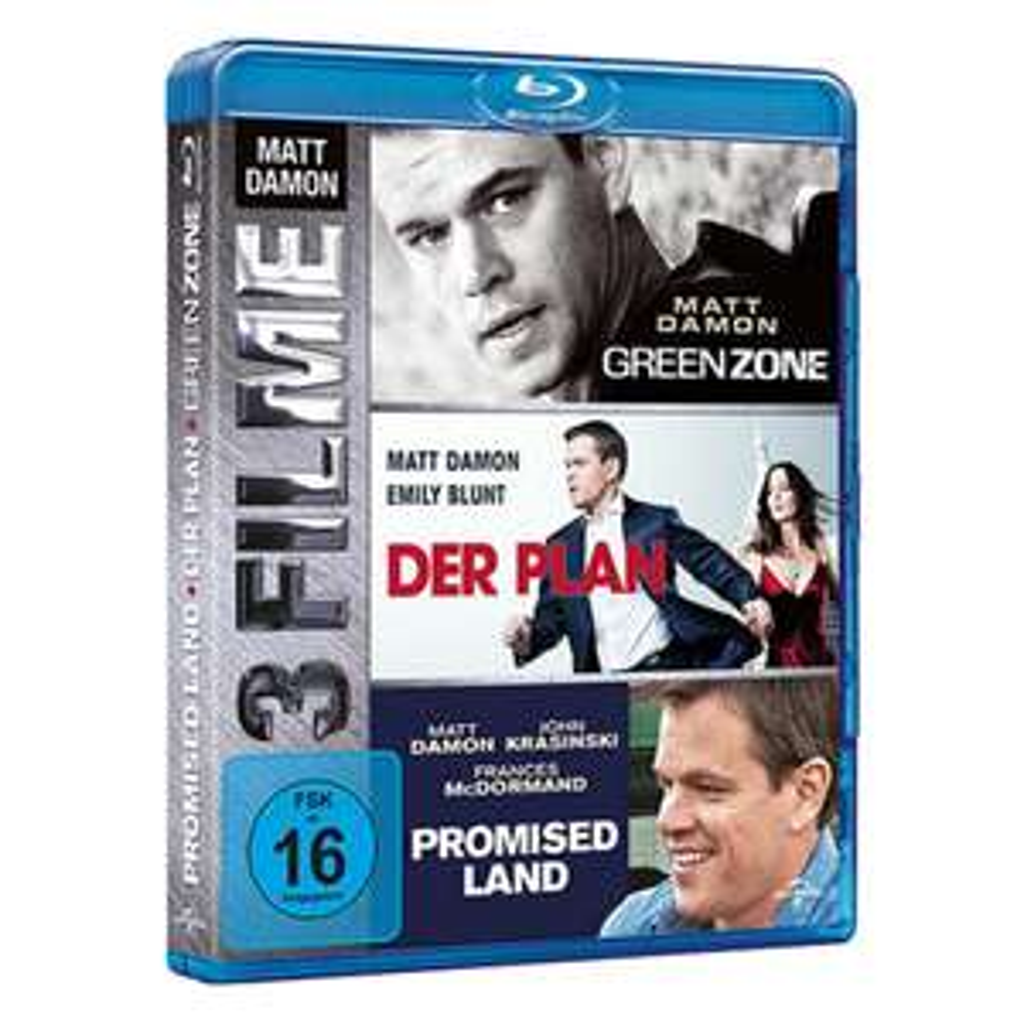 Blu-ray Box Matt Damon - Green Zone - Der Plan - Promised Land