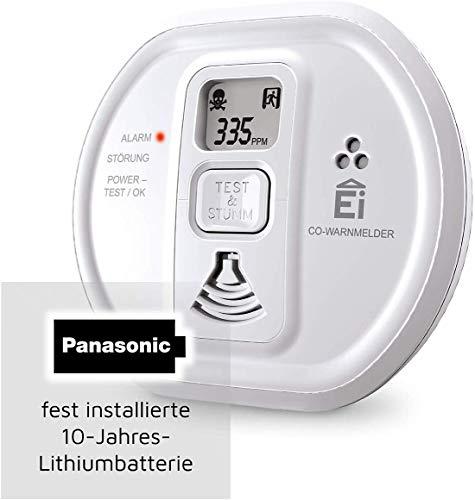 "Ei Electronics Kohlenmonoxidmelder ""Ei208D CO"" (Mit Display und 10-Jahres-Batterie) [Amazon-Prime] 26,99€"