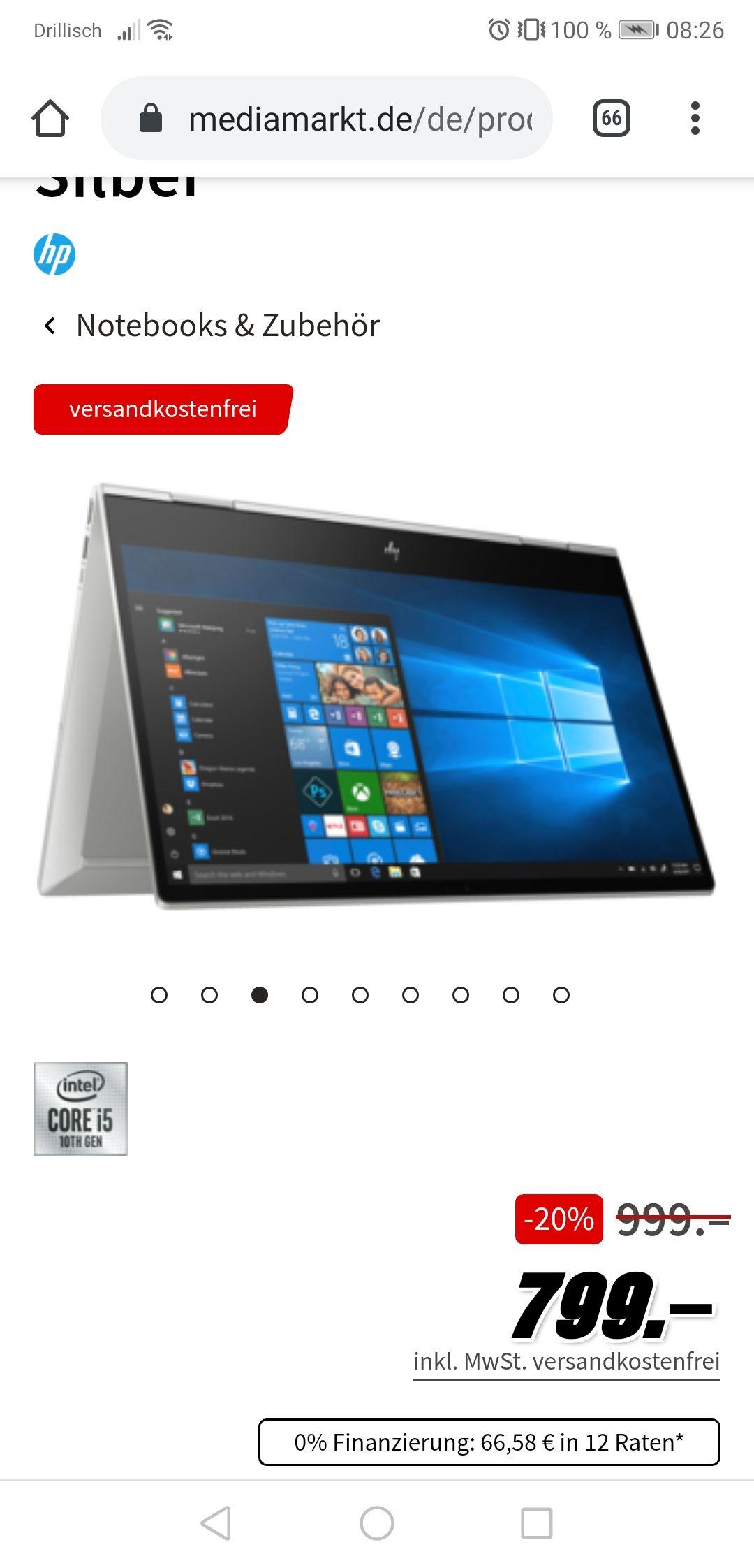 HP ENVY x360 20% Rabatt bei MediaMarkt