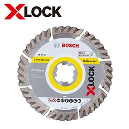 Bosch Professional Diamanttrennscheibe Standard (Universal, X-LOCK, Ø125 mm, Bohrung Ø: 22.23 mm, Schnittbreite 2 mm)