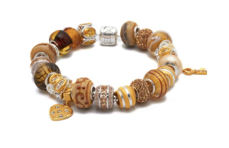 Unique Glass Beads ( Armbandschmuck ) mit Sterling Silber Fassung im Sale bis zu 60% Ersparnis