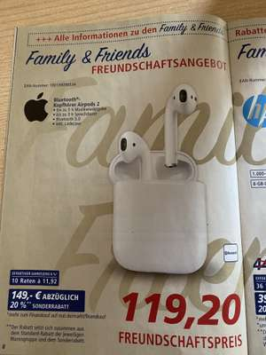 Air Pods 2 Real - Family and Friends