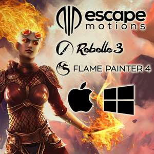 Painting-Software von Escape Motions: Rebelle 3 und Flame Painter 4 auf Deutsch für Windows und Mac