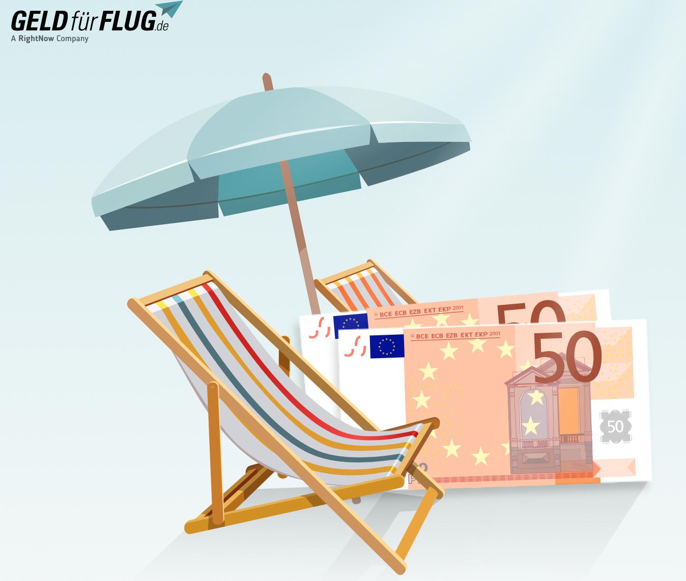 50 EUR Cash on top bei Geld-für-Flug bei stornierten/nicht angetretenen Pauschalreisen! 3 Jahre rückwirkend...