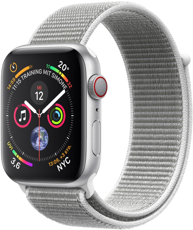 Apple Watch 4 GPS Cellular LTE 44mm Alu silber Sport Loop DEUTSCHER HÄNDLER - MIT MWST! für 377,33€ inkl. Versandkosten